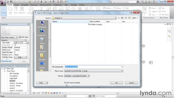 Exporting to AutoCAD: Revit Architecture 2011 Essential Training