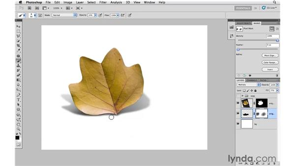 Modifying a directional shadow: Photoshop CS5: Creative Effects