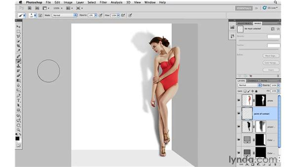 Adding and modifying shadows: Photoshop CS5: Creative Effects