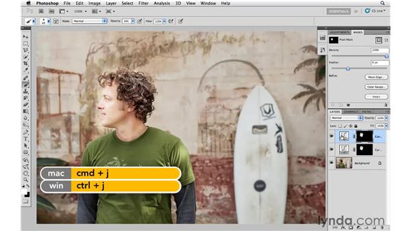 Adding light with curves and masking: Photoshop CS5: Creative Effects
