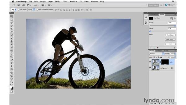 Correcting an overly backlit photograph: Photoshop CS5: Creative Effects