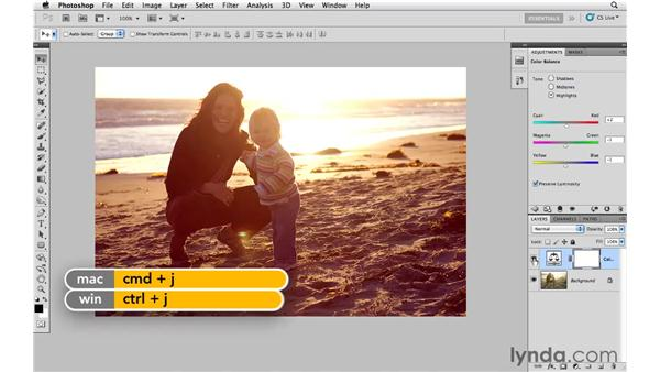 Improving sunset colors with color balance: Photoshop CS5: Creative Effects