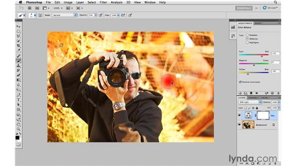 Improving the impact of color with curves and color balance: Photoshop CS5: Creative Effects