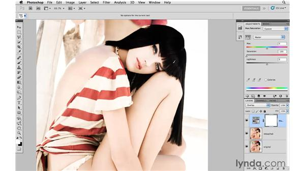 Creating an edgy muted and contrast look: Photoshop CS5: Creative Effects