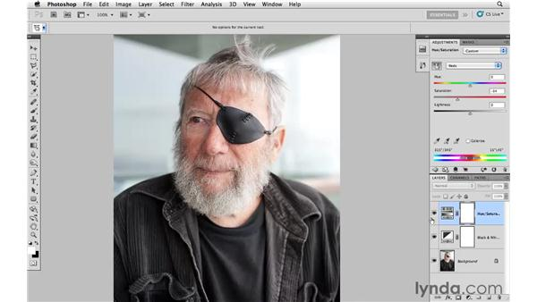 Reducing color for impact: Photoshop CS5: Creative Effects