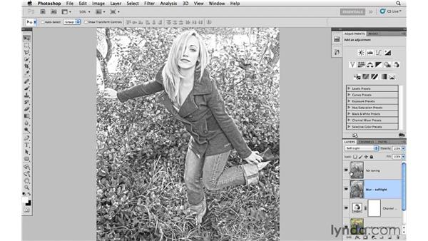 Combining infrared and HDR toning: Photoshop CS5: Creative Effects
