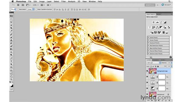 Creating a golden solarized effect: Photoshop CS5: Creative Effects