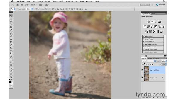 Creating soft focus with filters and blending: Photoshop CS5: Creative Effects