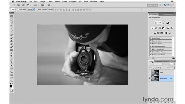 Adding grain with the Noise filter: Photoshop CS5: Creative Effects