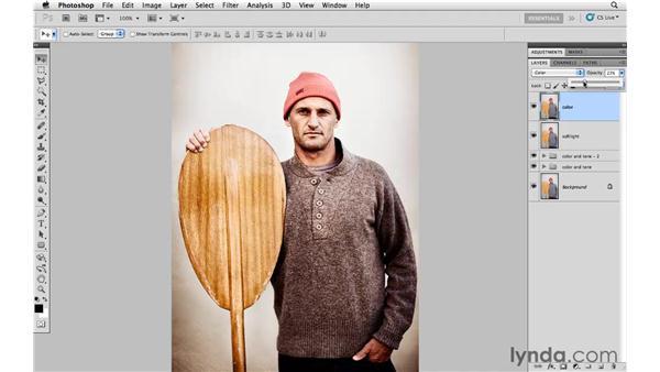 Adding a subtle vintage color effect: Photoshop CS5: Creative Effects
