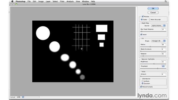 Deconstructing the lens blur effect: Photoshop CS5: Creative Effects