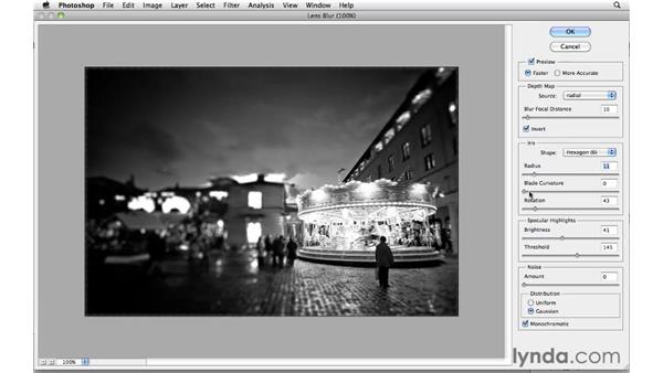 The lens blur effect in action: Photoshop CS5: Creative Effects