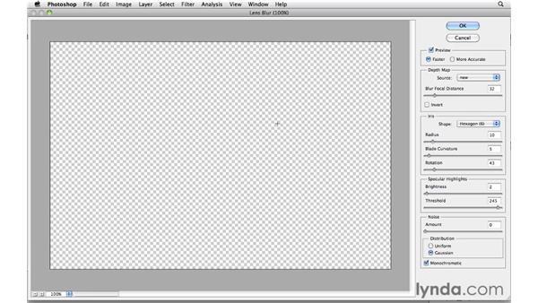 Using lens blur in portraits: Photoshop CS5: Creative Effects
