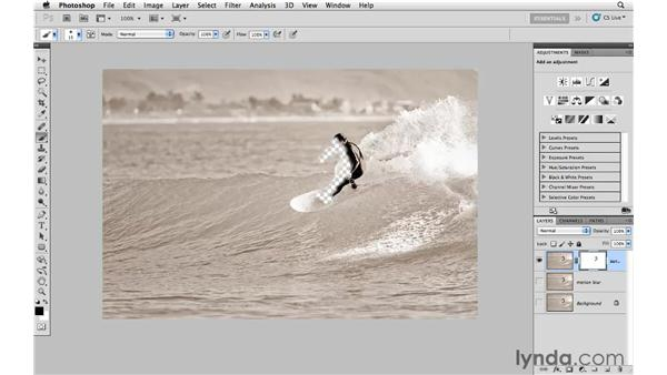 Applying motion blur: Photoshop CS5: Creative Effects