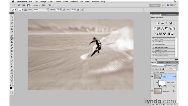 Creating radial zoom blur: Photoshop CS5: Creative Effects
