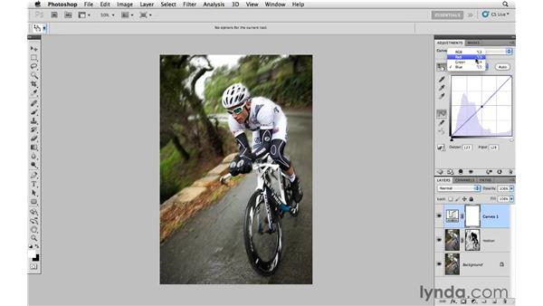 Working with motion blur and masking: Photoshop CS5: Creative Effects