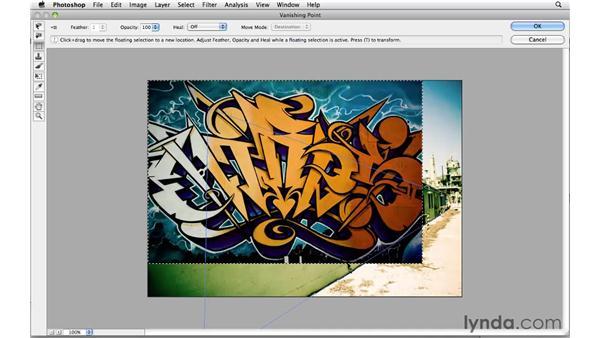 Adding graffiti on a single plane: Photoshop CS5: Creative Effects