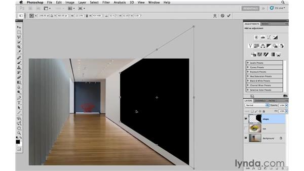 Using Free Transform to create a vanishing point perspective, pt. 1: Photoshop CS5: Creative Effects