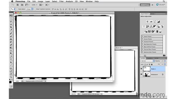 Adding a prebuilt edge: Photoshop CS5: Creative Effects