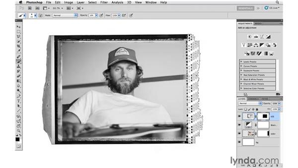 Working with a real film edge: Photoshop CS5: Creative Effects