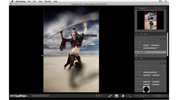 Modifying focus with onOne Focal Point: Photoshop CS5: Creative Effects