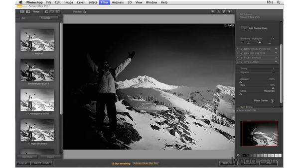 More black and white options with Nik Silver Efex Pro: Photoshop CS5: Creative Effects