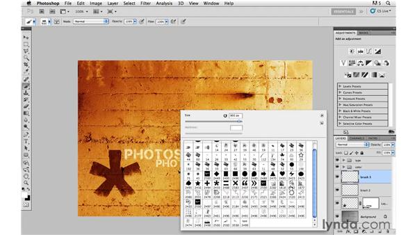 Custom brush creativity: Photoshop CS5: Creative Effects