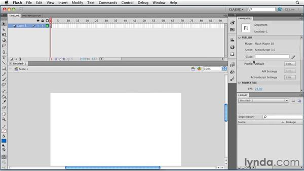Creating the first Flash file: Creating a First Web Site with Flash Professional CS5