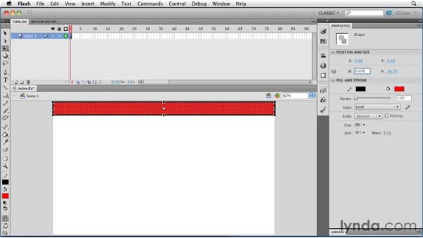 Creating the first graphic: Creating a First Web Site with Flash Professional CS5