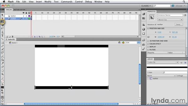 Creating a symbol: Creating a First Web Site with Flash Professional CS5