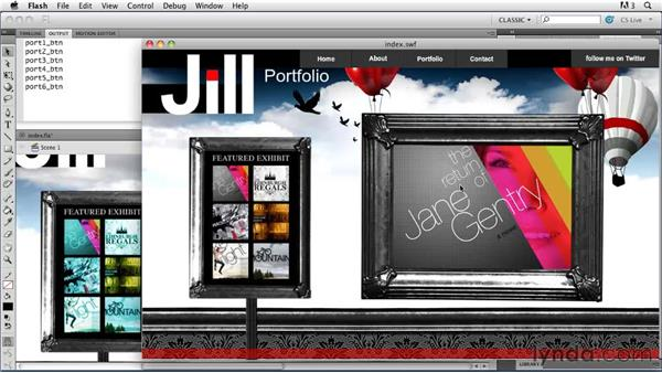Loading multiple external images: Creating a First Web Site with Flash Professional CS5