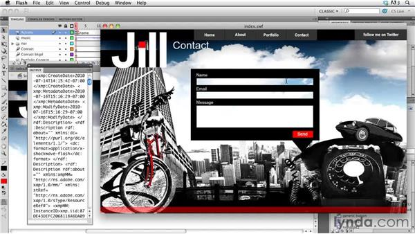 Optimizing a web site: Creating a First Web Site with Flash Professional CS5