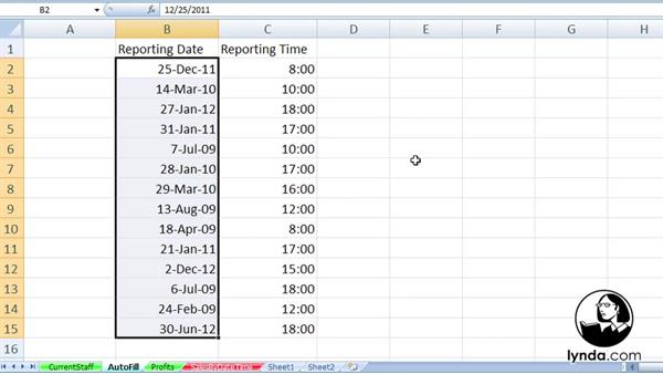 Welcome: Excel 2007: Working with Dates and Times