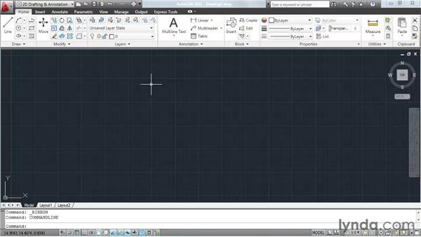 Understanding model space: AutoCAD 2011 Essential Training
