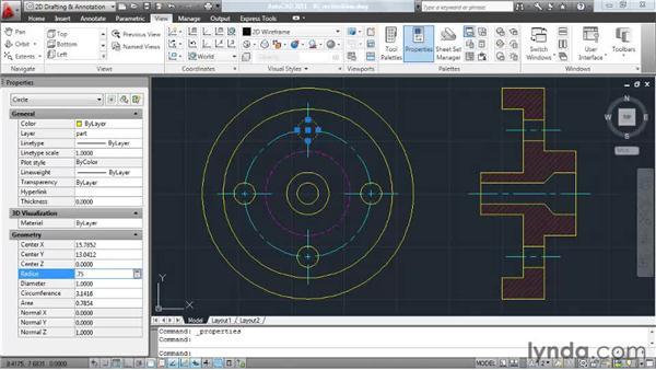 Leveraging dockable palettes: AutoCAD 2011 Essential Training