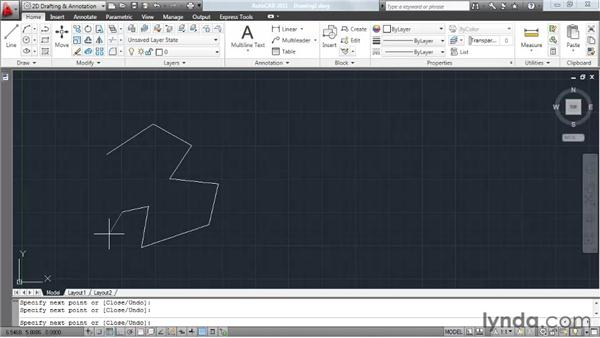 Understanding the anatomy of a command: AutoCAD 2011 Essential Training