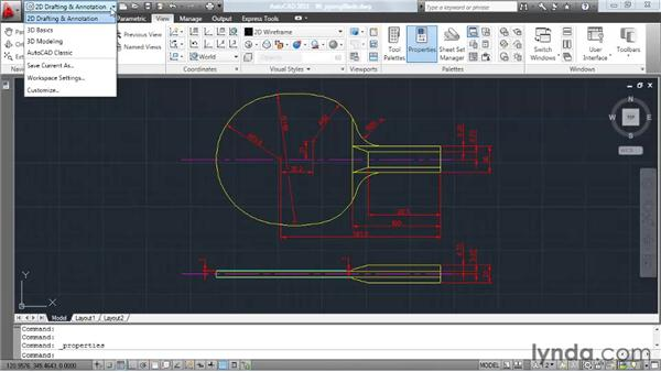 Saving a workspace: AutoCAD 2011 Essential Training