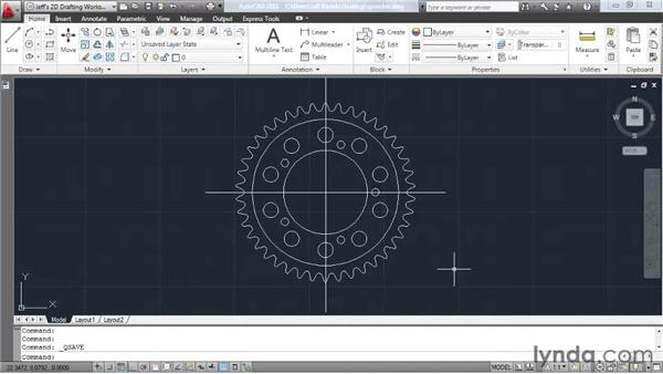 Saving your work: AutoCAD 2011 Essential Training