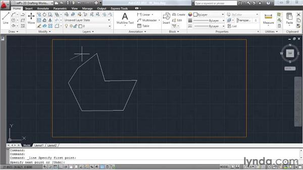 Constructing lines: AutoCAD 2011 Essential Training