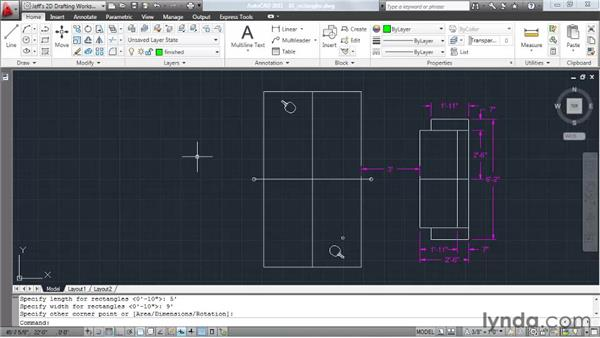 Drawing rectangles: AutoCAD 2011 Essential Training