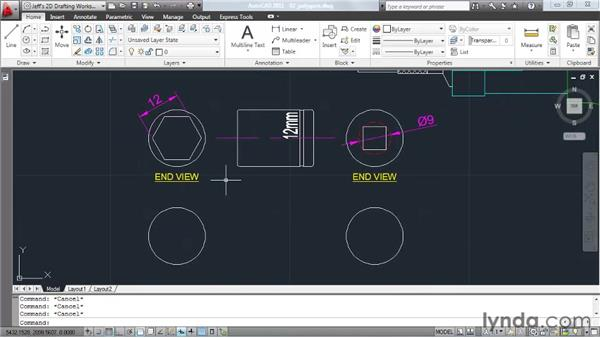 Drawing polygons: AutoCAD 2011 Essential Training