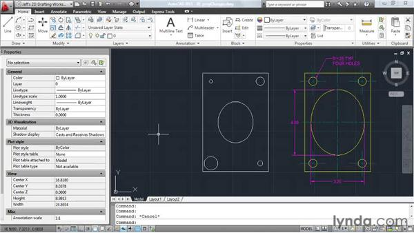 Making geometric changes using the property changer: AutoCAD 2011 Essential Training