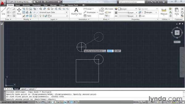 Moving and copying elements: AutoCAD 2011 Essential Training