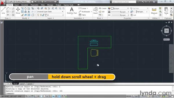Rotating elements: AutoCAD 2011 Essential Training