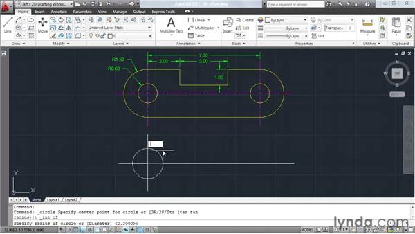 Creating offsets: AutoCAD 2011 Essential Training