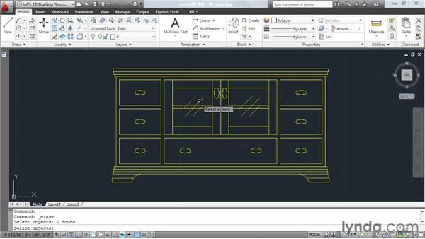 Erasing elements: AutoCAD 2011 Essential Training