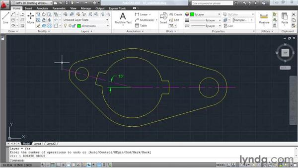 Undoing and redoing actions: AutoCAD 2011 Essential Training