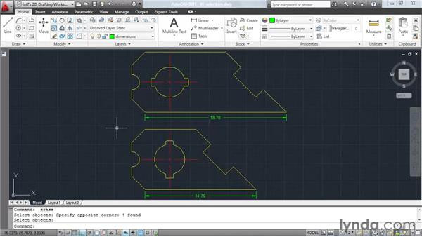 Selecting objects using windows: AutoCAD 2011 Essential Training