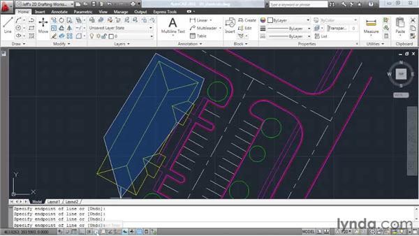 Using keyboard shortcuts: AutoCAD 2011 Essential Training