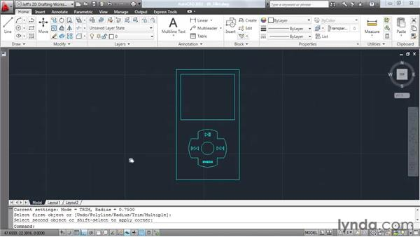 Creating fillets: AutoCAD 2011 Essential Training